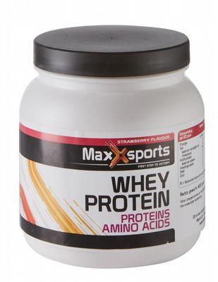 MAXXSPORTS maxxsports whey proteine aardbei 400gr 400gr