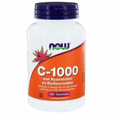 NOW Vitamine C-1000 met rozenbottel en bioflavonoiden 100tab