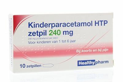 Healthypharm Paracetamol kinderen 240 mg 10zp