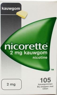 Nicorette Kauwgom 2mg Classic 105stuks