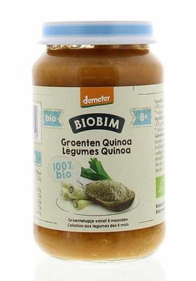 Biobim Gemengde groenten quinoa 8 maanden Demeter 200gram