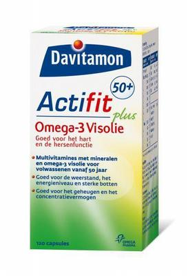 Davitamon Actifit 50plus Plus Multivitamine Met Omega-3 Visolie 120stuks
