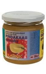 Monki Pindakaas crunchy met zout eko 330g