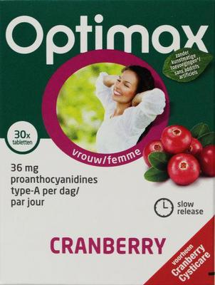 Optimax Cysticare cranberry slow release 30tab
