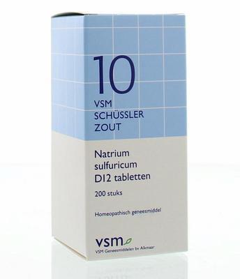VSM Natrium sulfuricum D12 Schussler 10 200tb