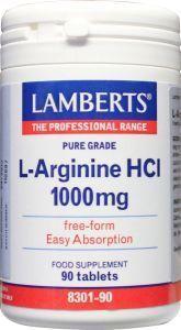 Lamberts L Arginine 1000mg -l8301-90 90tab