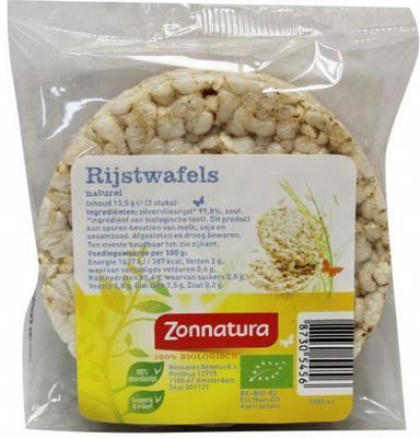 Zonnatura Rijstwafels Naturel Duo 15g