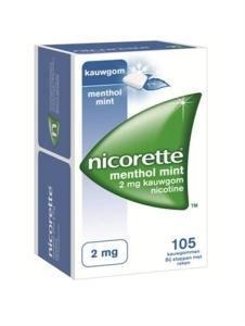 Nicorette Kauwgom 2mg Menthol 105stuks