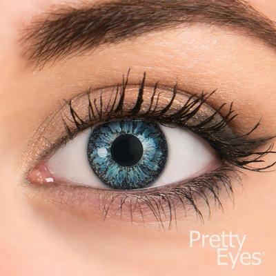 Pretty Eyes Daglens Color Blauw 8stuks