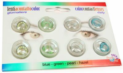 Pretty Eyes Daglens Color Kleur Mix 8stuks