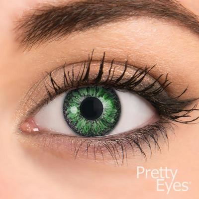 Pretty Eyes Daglens Color Green 2stuks