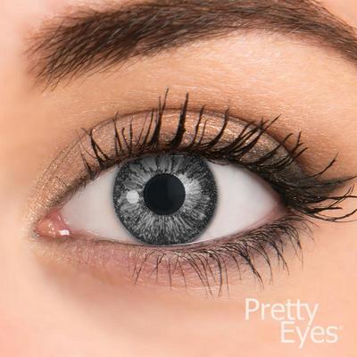 Pretty Eyes Daglens Color Grey Pearl 2stuks