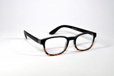 Leesbril zwart-demi +2.00