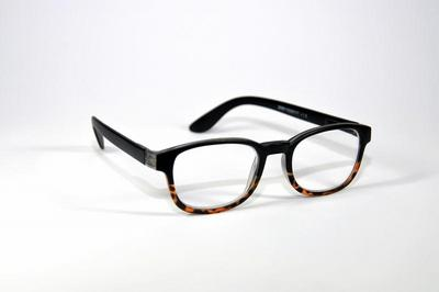 Leesbril zwart glans +1.00