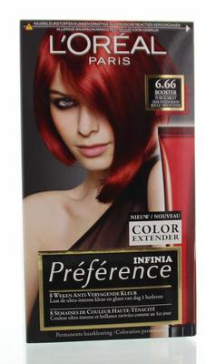 Loreal Feria preference 6.66 pure scarlett power 1set