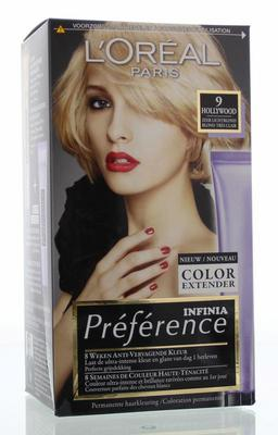 Loreal Preference 9 hollywood zeer licht blond 1set