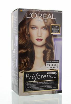 Loreal Preference 6.23 parelmoer lichtbruin 1set