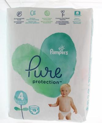 Pampers Pure Protection maat 4 (9-14 kg) 19 luiers