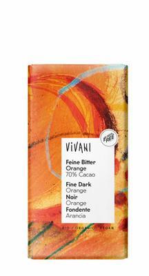 Vivani Chocolade puur sinaas 100g