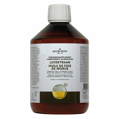 Jacob Hooy Levertraan/visolie vitamine A&D 500ml