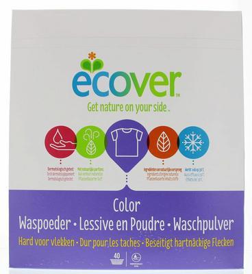 Ecover Waspoeder Color 40 Wasbeurten 3,0kg