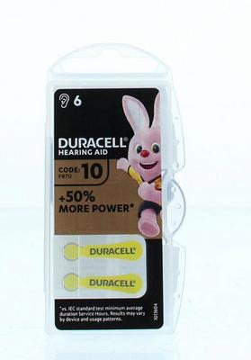 Duracell Hearing Aid 10 Batterij 6st