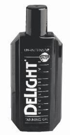Delight tanning oil uv intensive 200ml