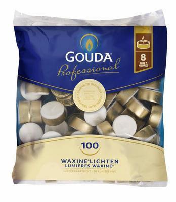 Gouda Theelicht 8 uur wit 16-38 100st