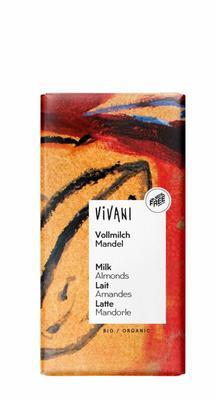 Vivani Chocolade melk met amandel 100g