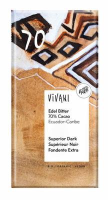 Vivani Chocolade puur Ecuador 100g