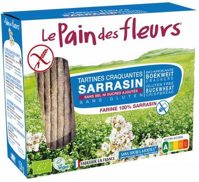 Pain Des Fleurs Boekweit crackers zonder zout 150g