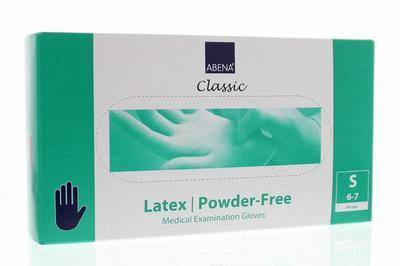 Abena Handschoenen latex poedervrij maat S 100st
