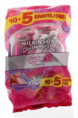 Wilkinson Extra2 beauty 10 + 5 gratis 15st