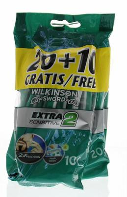 Wilkinson Extra 2 sensitive 20 + 10 gratis 30st