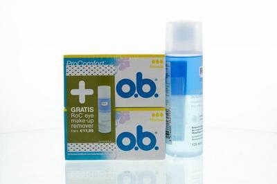 OB ProComfort normaal tampon + gratis ROC eye remover 1set